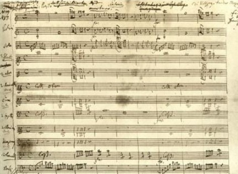 Hand-written sheet music