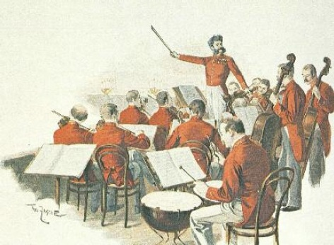 Concierto de música clásica - ilustraciones antiguas