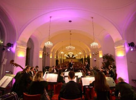The Schoenbrunn Palace Orchestra performs a classical concert in the Orangery Vienna