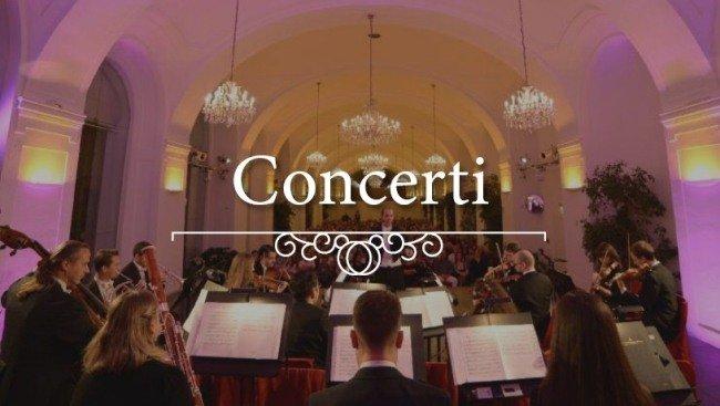 Date uno sguardo all'orchestra durante un concerto classico nell'Orangerie di Schönbrunn a Vienna